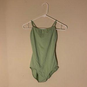 Capezio pastel green ballet leotard